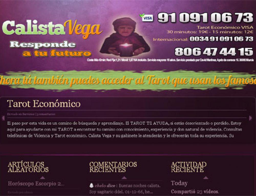 Promoción Tarot Calista Vega